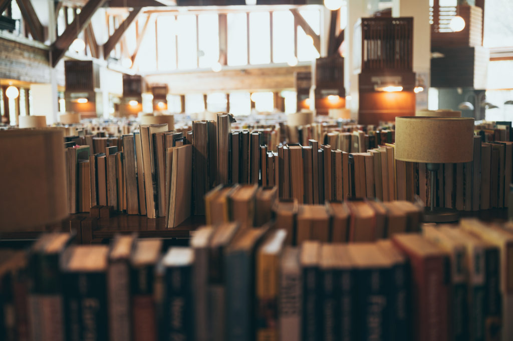 Books in large public libraries for the public